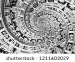 silver black ancient antique... | Shutterstock . vector #1211603029