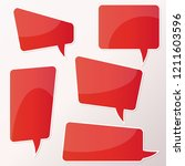 vector stickers thought  speech ... | Shutterstock .eps vector #1211603596
