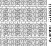 vector pique rib stitch pattern.... | Shutterstock .eps vector #1211603986