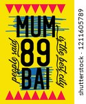 mumbai the best city t shirt... | Shutterstock .eps vector #1211605789