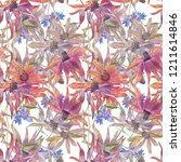beautifulf floral seamless... | Shutterstock . vector #1211614846