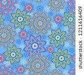 seamless oriental ornamental...   Shutterstock .eps vector #1211616409