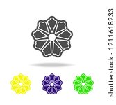 flower color icon abstract   in ...