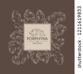 background with porphyra ... | Shutterstock .eps vector #1211619853