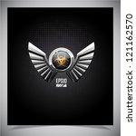 shield with biohazard symbol... | Shutterstock .eps vector #121162570