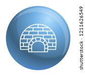 arctic igloo icon. outline... | Shutterstock .eps vector #1211626549