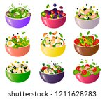 green fresh salad of their... | Shutterstock .eps vector #1211628283