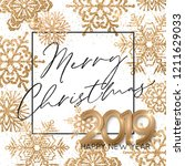 happy new year background with... | Shutterstock .eps vector #1211629033