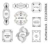 set of art deco borders and... | Shutterstock .eps vector #1211636866