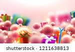 merry christmas and new year... | Shutterstock .eps vector #1211638813
