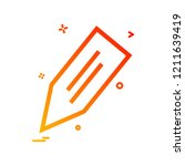 pencil icon design vector  | Shutterstock .eps vector #1211639419