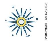 sun icon design vector | Shutterstock .eps vector #1211647210