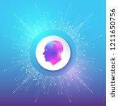 artificial intelligence logo.... | Shutterstock .eps vector #1211650756