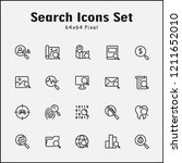 thin line icons set of search.... | Shutterstock .eps vector #1211652010