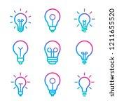 lightbulbs icon set | Shutterstock .eps vector #1211655520