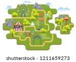 cartoon vector amusement park... | Shutterstock .eps vector #1211659273