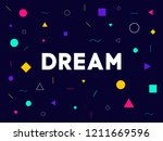 dream word with geometric... | Shutterstock .eps vector #1211669596