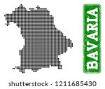 dotted map of bavaria state and ... | Shutterstock .eps vector #1211685430