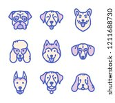 dogs icon set | Shutterstock .eps vector #1211688730