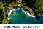 tahiti from above   Shutterstock . vector #1211692540