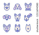 dogs icon set | Shutterstock .eps vector #1211694580