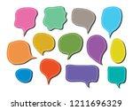 vector bubbles speech doodle... | Shutterstock .eps vector #1211696329