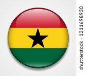 flag of ghana. round glossy... | Shutterstock .eps vector #1211698930