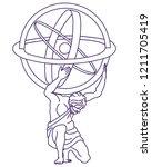atlas graphic vector design   Shutterstock .eps vector #1211705419
