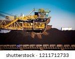bucket wheel excavator.... | Shutterstock . vector #1211712733
