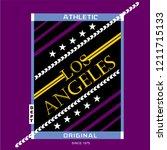 los angeles stock vector...   Shutterstock .eps vector #1211715133