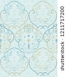 baroque damask pattern ... | Shutterstock . vector #1211717200