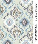 baroque damask pattern ...   Shutterstock . vector #1211719129