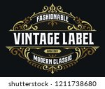 victorian badge stylish... | Shutterstock .eps vector #1211738680