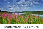 Irtysh River, Western Siberia - stock photo