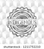 indigenous grey emblem with...   Shutterstock .eps vector #1211752210