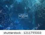 abstract polygonal space... | Shutterstock .eps vector #1211755333