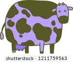 cute colorful cow silhouette...   Shutterstock .eps vector #1211759563