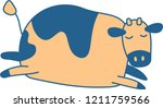 cute colorful cow silhouette...   Shutterstock .eps vector #1211759566