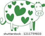 cute green cow silhouette...   Shutterstock .eps vector #1211759833