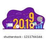 new year success goal... | Shutterstock .eps vector #1211766166