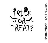 trick or treat vector... | Shutterstock .eps vector #1211767306