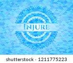 injure realistic light blue... | Shutterstock .eps vector #1211775223