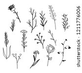 wild flowers doodle style for... | Shutterstock .eps vector #1211776006