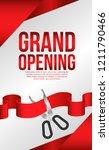 grand opening flyer poster... | Shutterstock .eps vector #1211790466