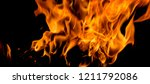 fire flames on black background | Shutterstock . vector #1211792086