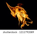fire flames on black background | Shutterstock . vector #1211792089