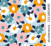 floral seamless pattern. vector ... | Shutterstock .eps vector #1211803450