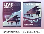 classical or jazz music... | Shutterstock .eps vector #1211805763
