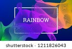 rainbow fluid background.... | Shutterstock .eps vector #1211826043