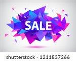 vector sale facet crystal... | Shutterstock .eps vector #1211837266